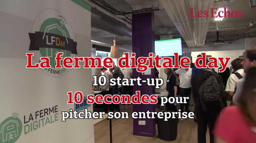 Illustration pour la vidéo La Ferme Digitale Day : 10 start-up, 10 pitchs, 10 secondes