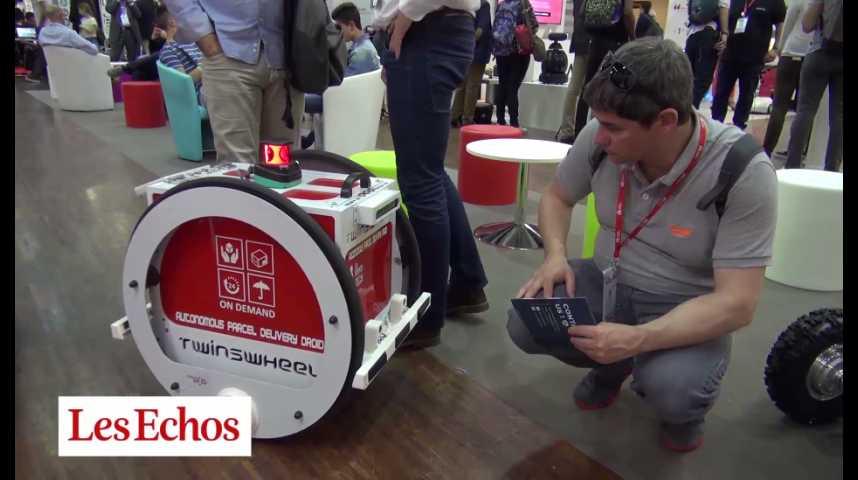 Illustration pour la vidéo Twinswheel : le robot livreur du futur ?