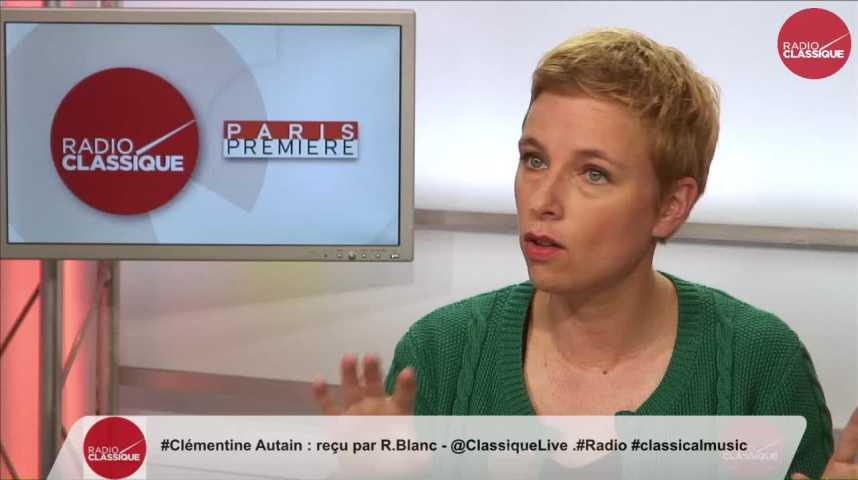 Illustration pour la vidéo « Je pense que la majorité Emmanuel Macron est fragile » Clémentine Autain (25/05/2017)