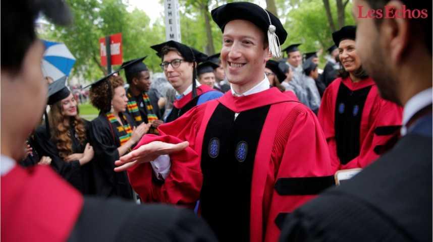 Illustration pour la vidéo Mark Zuckerberg enfin diplômé de Harvard