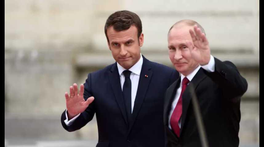 Illustration pour la vidéo Premier tête-à-tête Macron-Poutine à Versailles