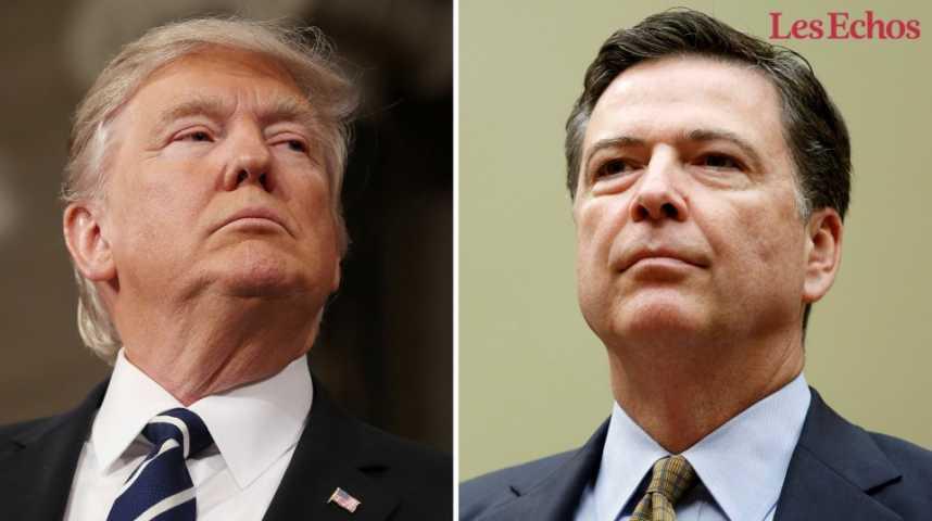 Illustration pour la vidéo Donald Trump limoge brutalement le patron du FBI