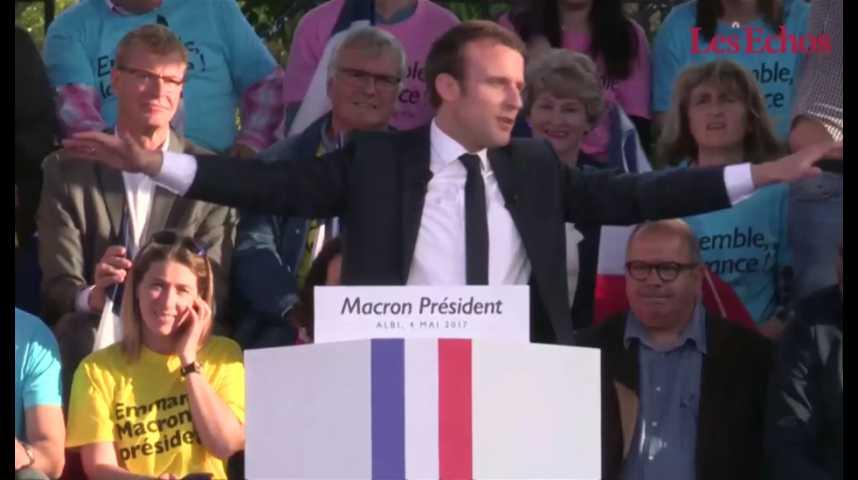 Illustration pour la vidéo Macron à Albi, Le Pen à Ennemain : derniers meetings pour deux projets radicalement opposés