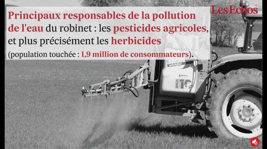 Illustration pour la vidéo 2,8 millions de Français boivent une eau contaminée