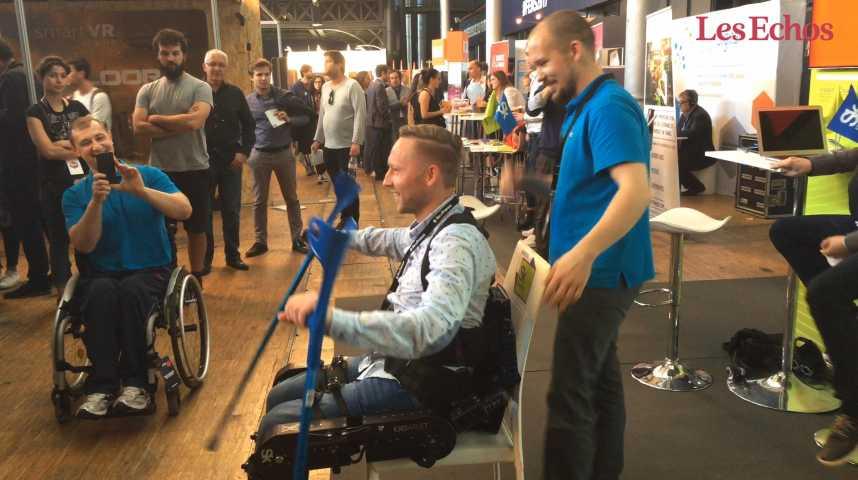 Illustration pour la vidéo Un exosquelette face au handicap
