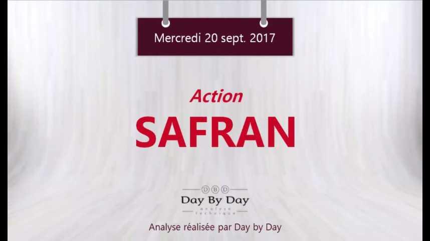 Illustration pour la vidéo Action Safran - vers le haut de son canal haussier - Flash Analyse IG 20.09.2017