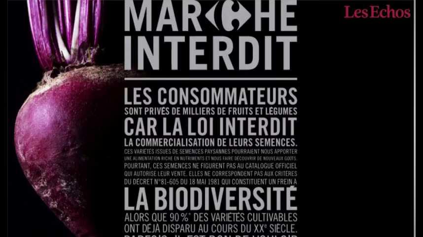"""Illustration pour la vidéo Le """"marché interdit"""" de Carrefour pour la biodiversité"""