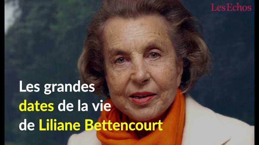 Illustration pour la vidéo Les grandes dates de la vie de Liliane Bettencourt