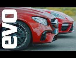 Porsche Panamera Turbo v Mercedes-AMG E63 S | evo drag races