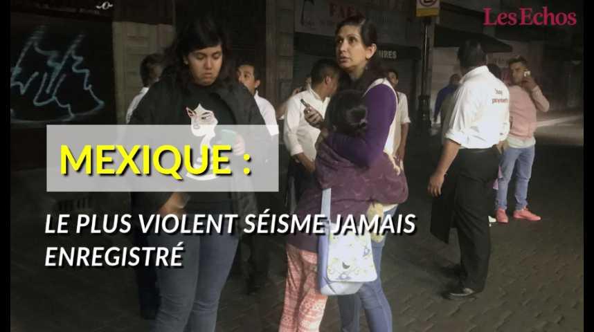 Illustration pour la vidéo Mexique : le plus violent séisme jamais enregistré