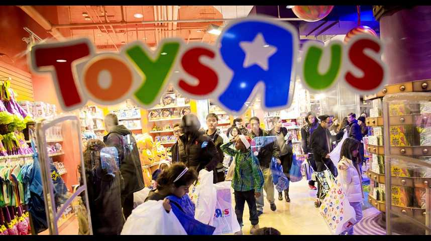 Illustration pour la vidéo Les magasins de jouets Toys'R'Us en faillite