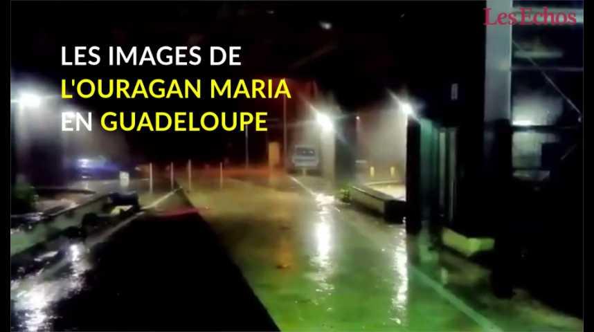 Illustration pour la vidéo Les images de l'ouragan Maria en Guadeloupe