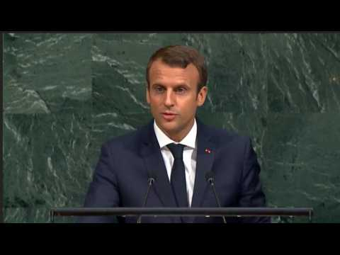 """""""Notre planète se venge de la folie des hommes"""" : le 1er discours de Macron devant l'AG de l'ONU"""