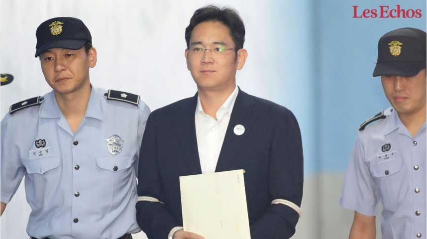 Illustration pour la vidéo Le patron de Samsung condamné à cinq ans de prison