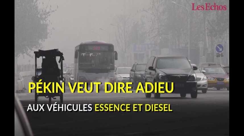 Illustration pour la vidéo Pékin veut dire adieu aux voitures diesel et essence