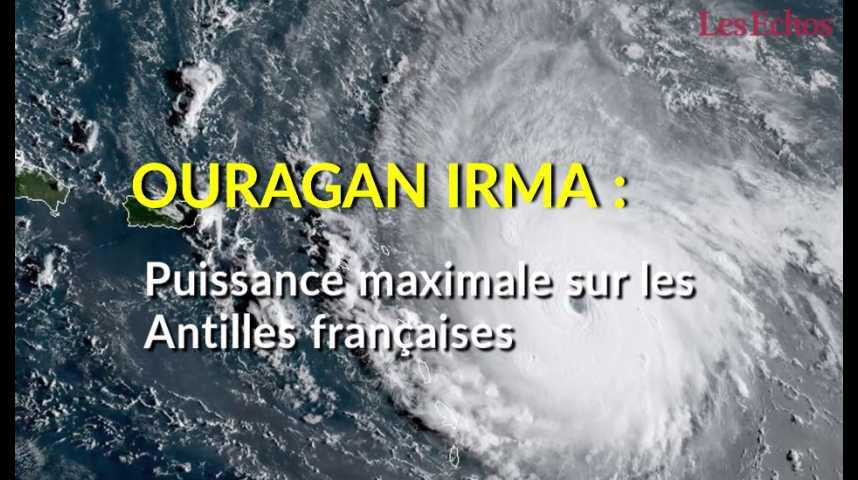 Illustration pour la vidéo Ouragan Irma : puissance maximale sur le nord des Antilles