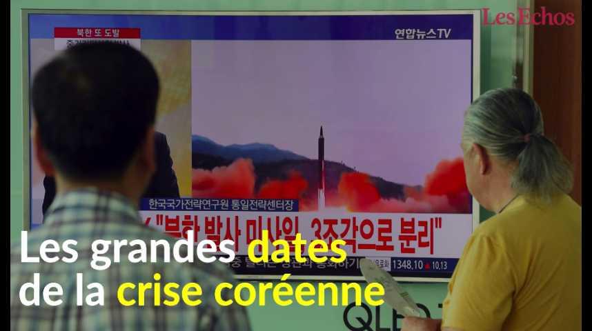 Illustration pour la vidéo Les grandes dates de la crise coréenne