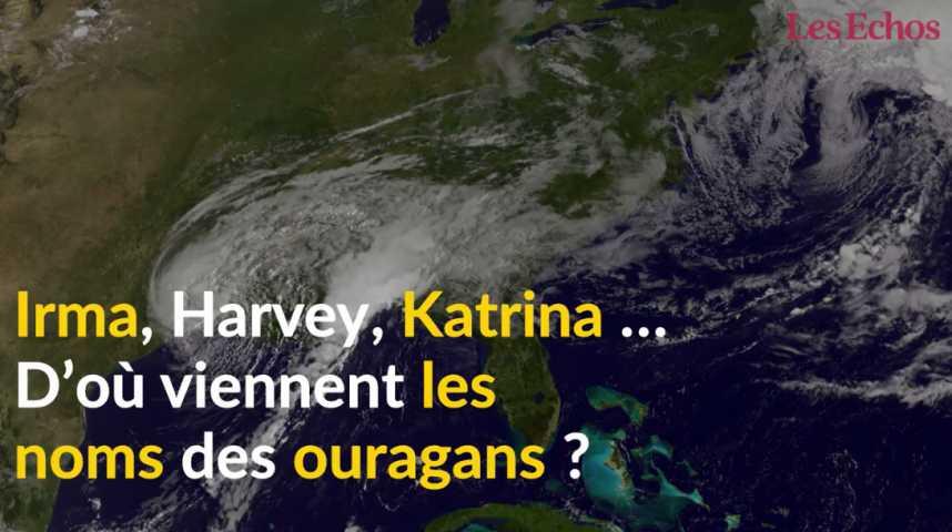 Illustration pour la vidéo D'où viennent les noms des ouragans ?