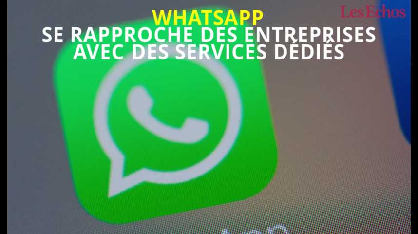 Illustration pour la vidéo WhatsApp se rapproche des entreprises avec des services dédiés