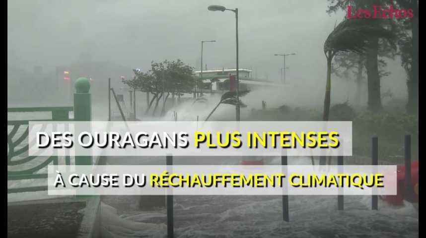 Illustration pour la vidéo Des ouragans plus puissants à cause du réchauffement climatique