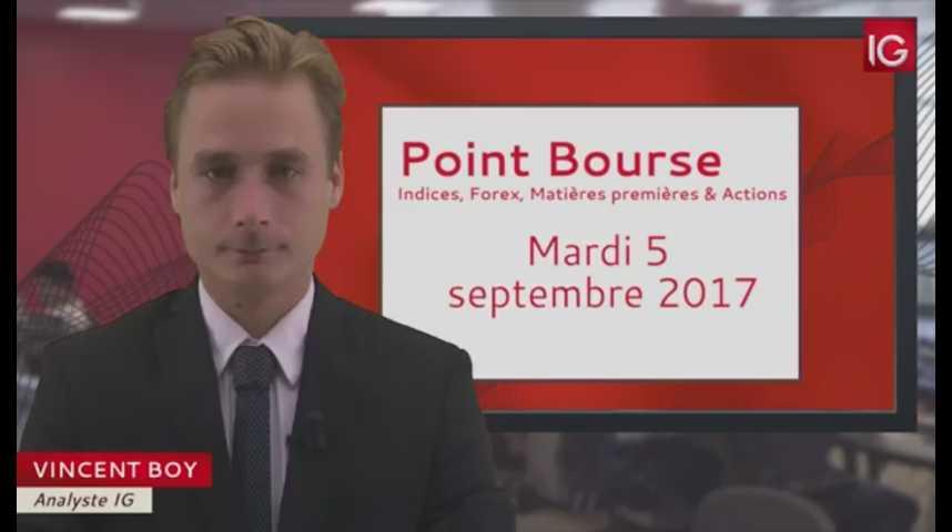 Illustration pour la vidéo Point Bourse du mardi 5 septembre 2017