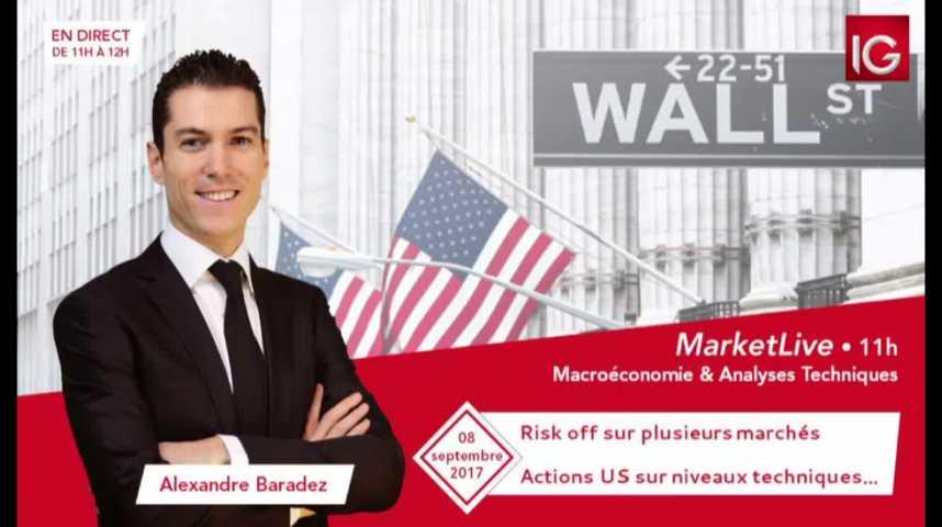 Illustration pour la vidéo #MarketLive 11h - Vendredi 8 septembre 2017