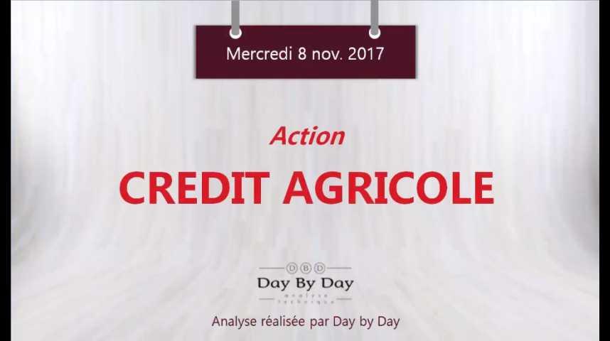 Illustration pour la vidéo Action Crédit Agricole : gap baissier - Flash analyse IG 08.11.2017