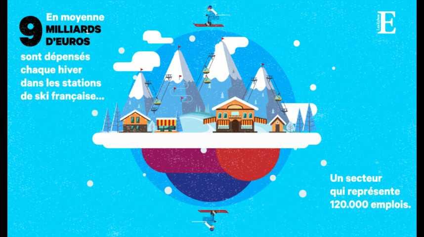 Illustration pour la vidéo Les stations de ski, un business à 9 milliards d'euros