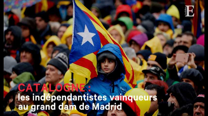 Illustration pour la vidéo Catalogne : les indépendantistes vainqueurs, au grand dam de Madrid