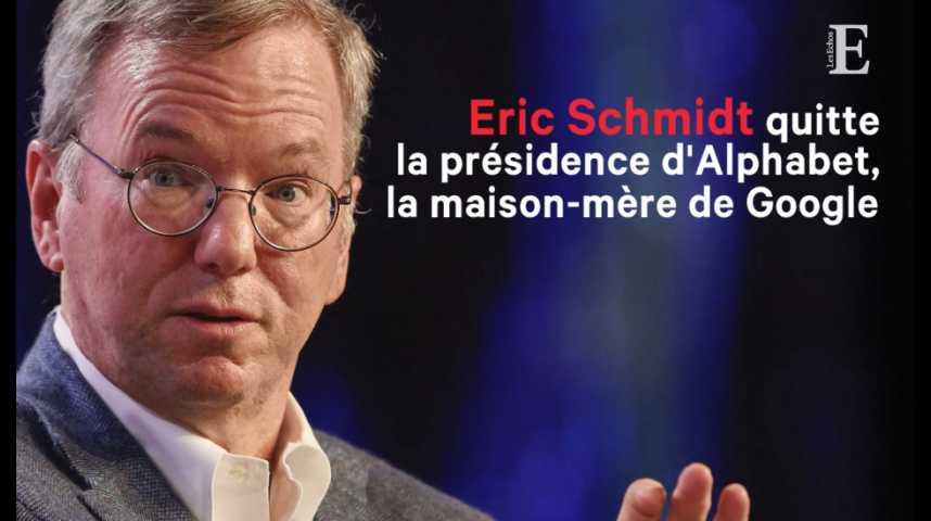 Illustration pour la vidéo Eric Schmidt quitte la présidence d'Alphabet, la maison-mère de Google