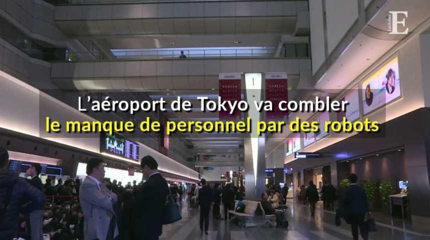 Illustration pour la vidéo L'aéroport de Tokyo va combler le manque de personnel par des robots