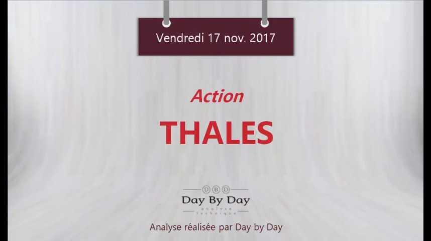Illustration pour la vidéo Actions Thales : sortie baissière d'un triangle - Flash Analyse IG 17.11.2017