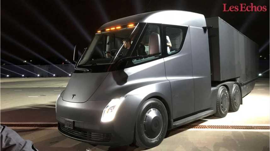 Illustration pour la vidéo Tesla dévoile son camion électrique