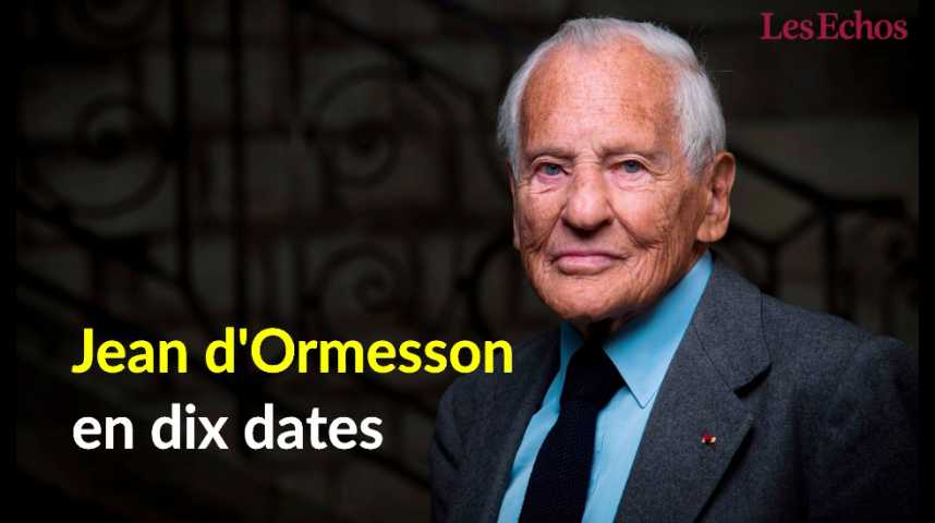 Illustration pour la vidéo Jean d'Ormesson en dix dates