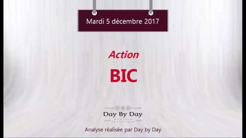 Illustration pour la vidéo Action BIC : sous une sérieuse zone de résistance - Flash Analyse IG 05.12.2017
