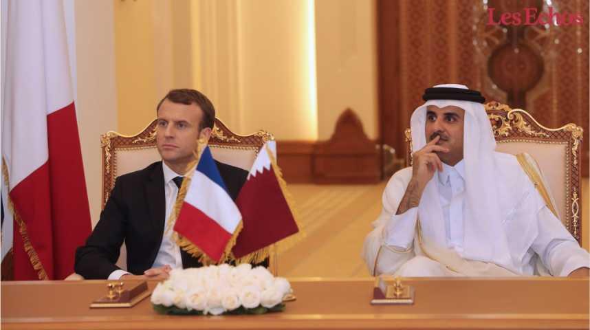 Illustration pour la vidéo Macron signe une rafale de contrats au Qatar