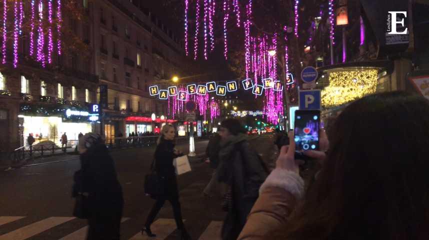 Illustration pour la vidéo A Paris, des illuminations de Noël interactives
