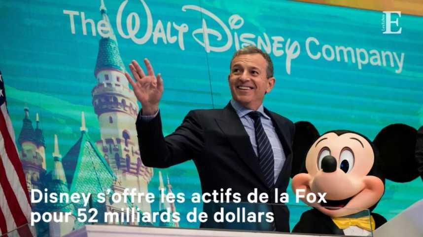 Illustration pour la vidéo Disney s'offre les actifs de la Fox pour 52 milliards de dollars