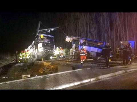 Millas : dramatique accident entre un train et un bus scolaire