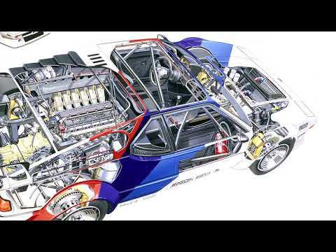 40 years of BMW M1 - Technical Drawing