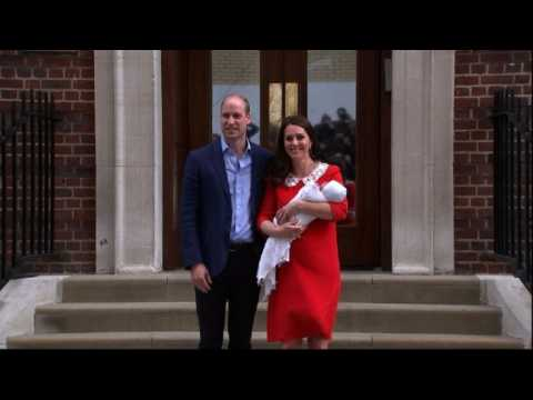 Prince William and Kate leave hospital with newborn baby