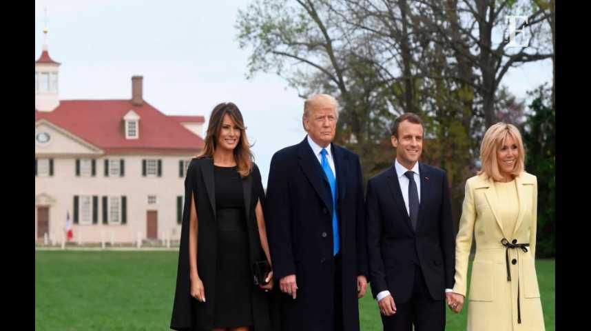 Illustration pour la vidéo 5 temps forts de la première journée de Macron aux Etats-Unis