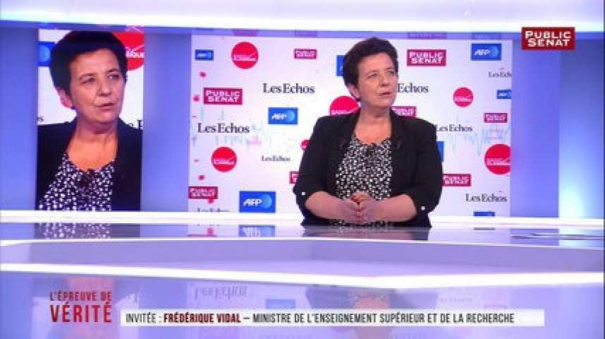 Illustration pour la vidéo Universités : plus d'un million d'euros de dégâts, annonce Frédérique Vidal