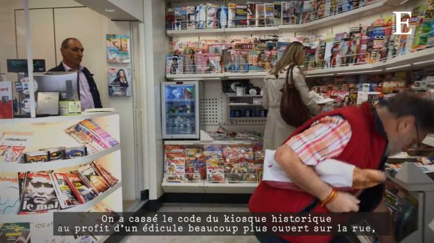 Illustration pour la vidéo Relooking des kiosques de Paris : visite guidée