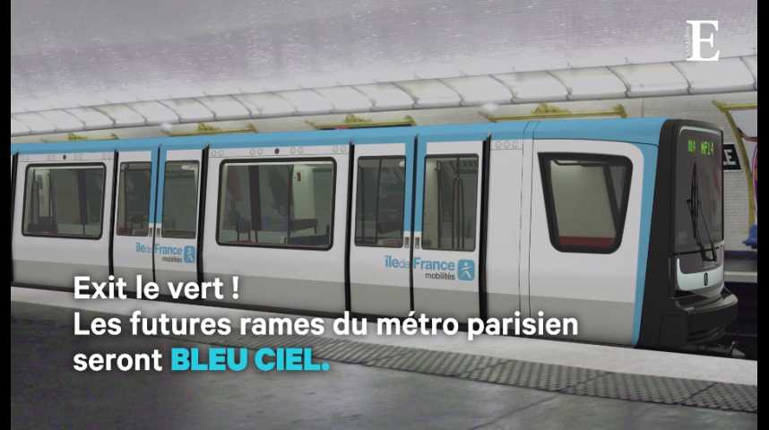 Illustration pour la vidéo Le métro parisien va se mettre au bleu ciel