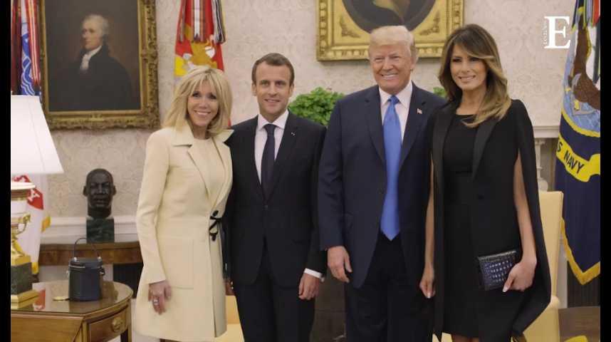 """Illustration pour la vidéo """"Visite d'Etat"""" : Trump déroule le tapis rouge pour Macron"""