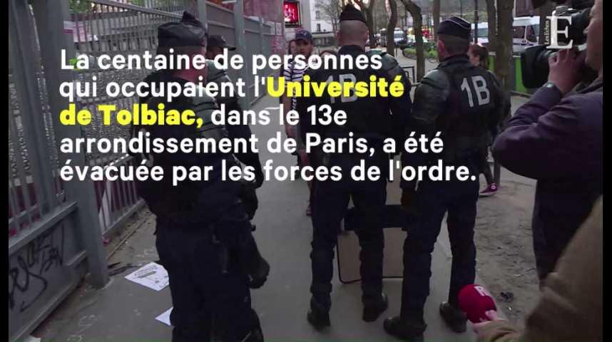 Illustration pour la vidéo Université : les forces de l'ordre ont évacué Tolbiac