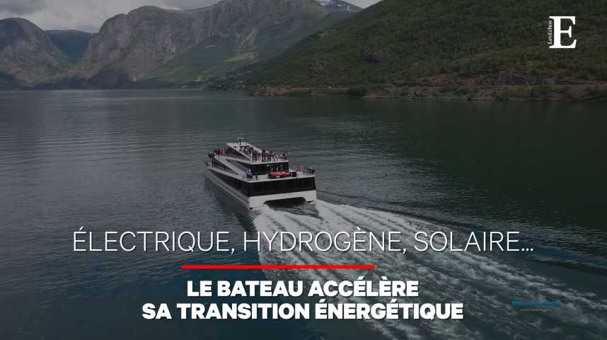 Illustration pour la vidéo Le bateau (aussi) passe à l'électrique