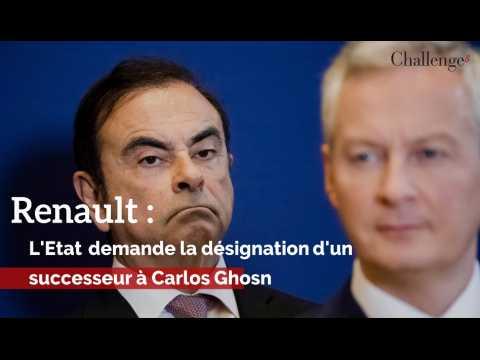 L'Etat demande la désignation d'un successeur à Carlos Ghosn