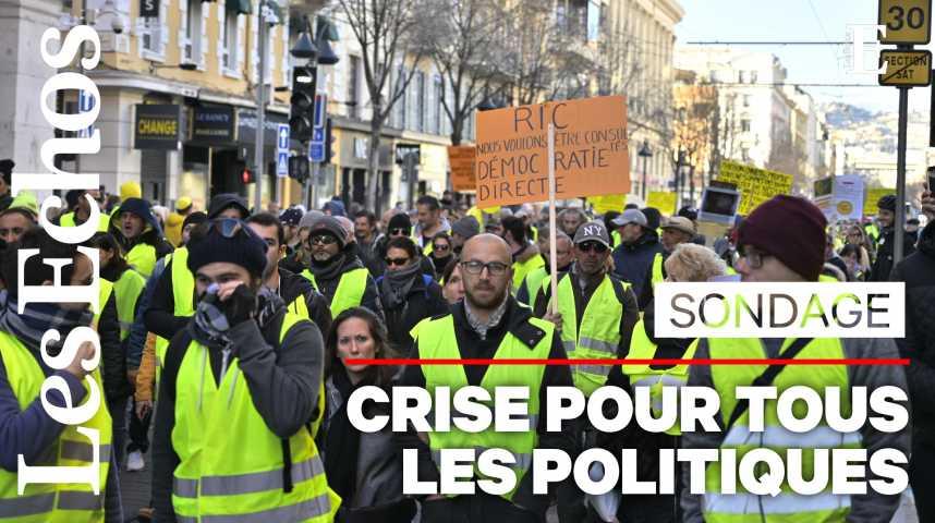 Illustration pour la vidéo Popularité : la crise des Gilets jaunes impacte toute la classe politique